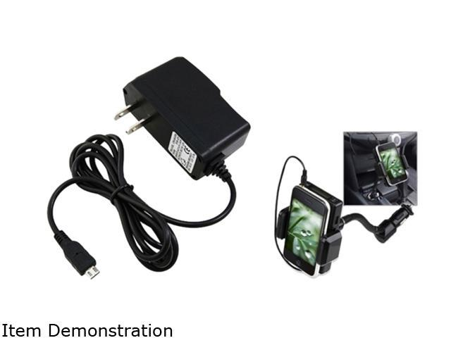 Insten FM Transmitter Car Charger + Home AC Charger Compatible with Samsung Galaxy S2 i9100 S4 i9500