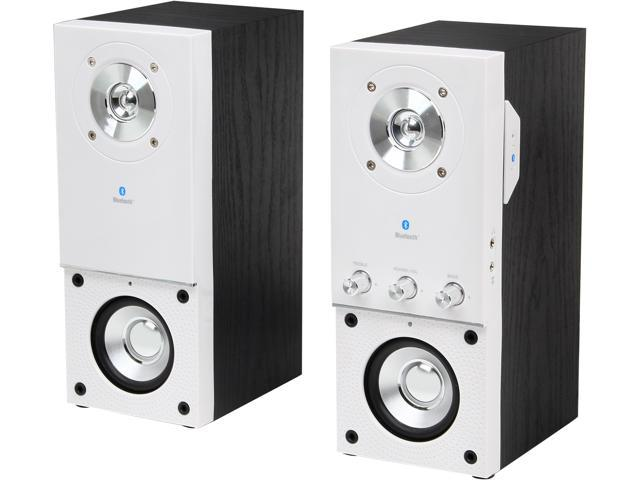 Eagle Arion ET-AR204B-WH 20W RMS 2.0 Bluetooth Speakers with Wall Mount Bracket