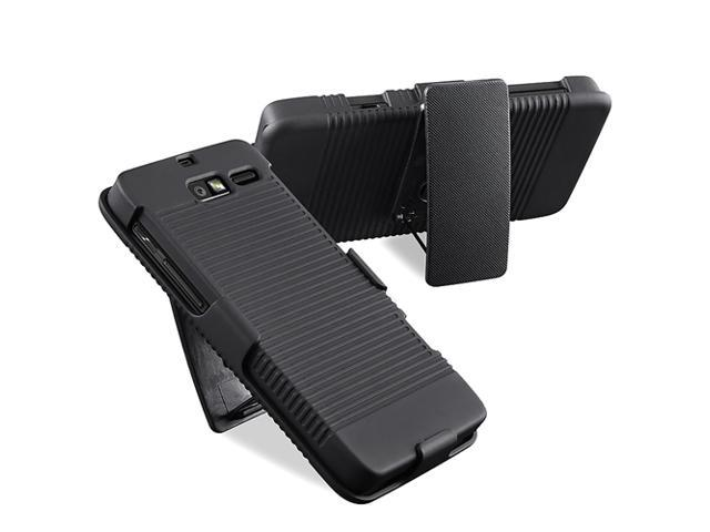 Insten Swivel Holster with Stand Compatible with Motorola Droid Razr M XT907, Black