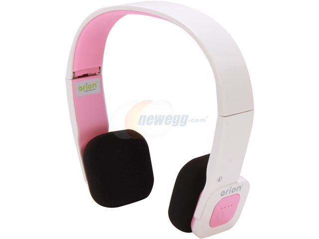 Eagle ET-ARHP200BF-WP White/Pink Foldable Bluetooth Stereo Headset