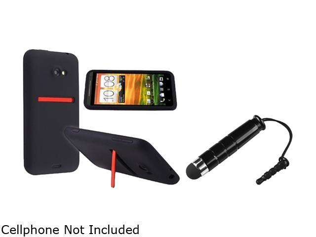 Insten Black Silicone Skin Case & Stylus for HTC EVO 4G LTE 663127