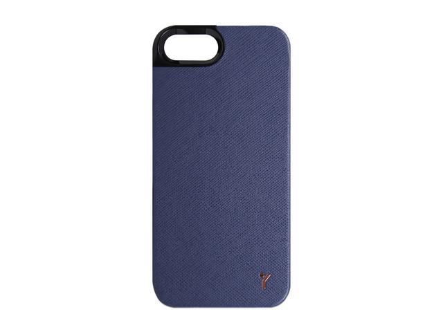 The Joy Factory Royce Navy Premium Synthetic Leather Hardshell Case for iPhone 5 CSD115