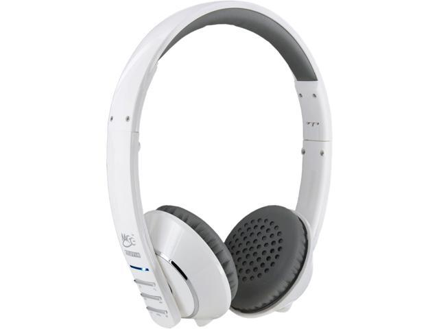 MEElectronics Air-Fi AF32 White/Gray Stereo Bluetooth Headset w/ Hidden Microphone