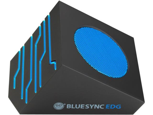 GOgroove BlueSYNC EDG Portable Wireless Bluetooth Speaker with Rechargeable Battery , Stereo Streaming & Blue LED Glow Lights
