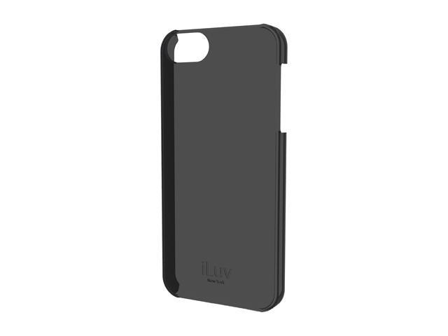 iLuv Black Overlay Translucent Hardshell Case For iPhone 5 ICA7H305BLK