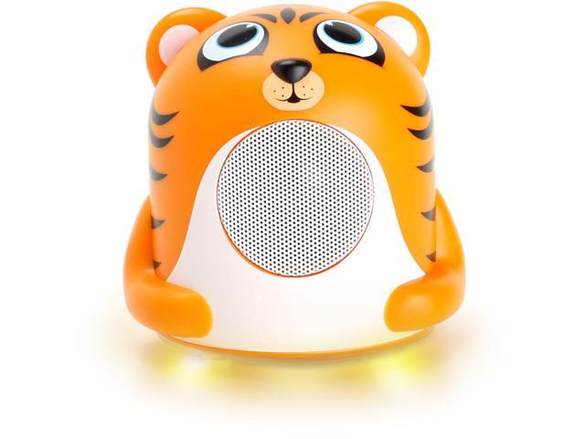 GOgroove Groove Pal Jr. Tiger Portable Kids 3.5mm Animal Speaker with Glowing LED Base for iPhone 5, 4S / iPod Touch, Nano / Samsung Galaxy ...