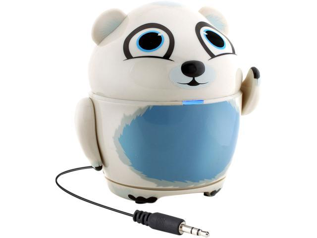 GOgroove Groove Pal Polar Bear Kid-Friendly Animal Speaker w/ Rechargeable Battery & Portable Design
