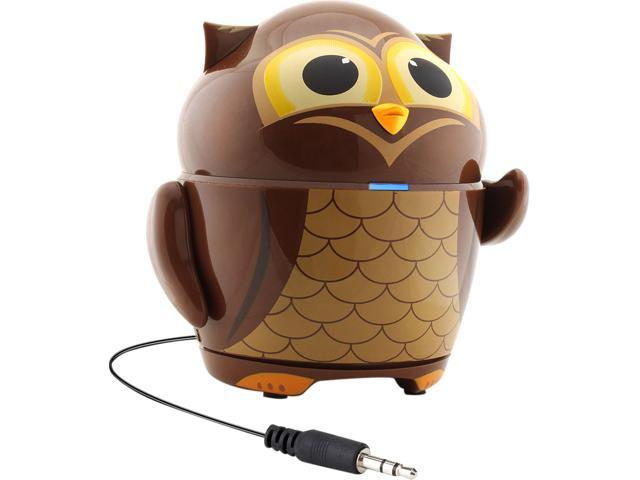 GOgroove Groove Pal Owl Kid-Friendly Animal Speaker with Rechargeable Battery & Portable Design