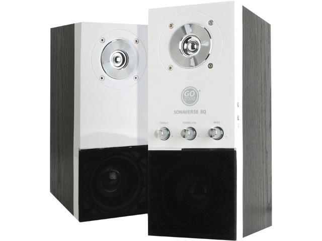GOgroove White 2.0 Speaker System GG-SONAVERSE-EQ