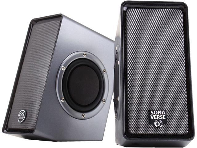 GOgroove SonaVERSE O2 USB Powered Multimedia Computer Speaker System w/ Passive Subwoofers and Volume Control for your Laptop , Notebook , ...
