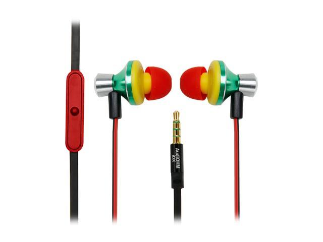 GOgroove AudiOHM iDX Noise Isolating Earbud Headphones with Enhanced Bass & Custom Fit Silicone GelsGGAOIDX100RSEW