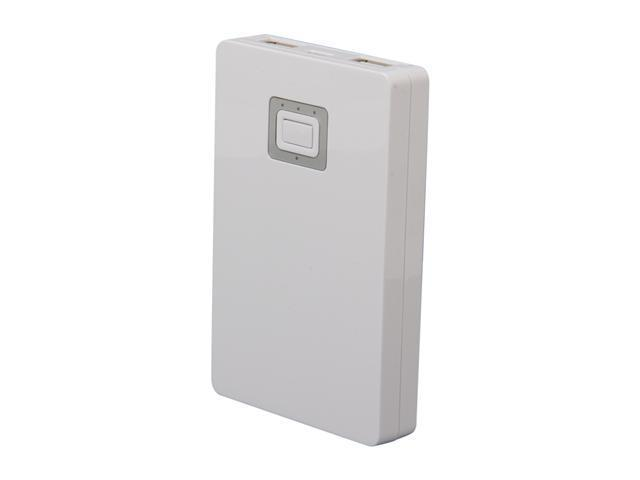 Aluratek White 5200 mAh Portable Battery Charger APB03F