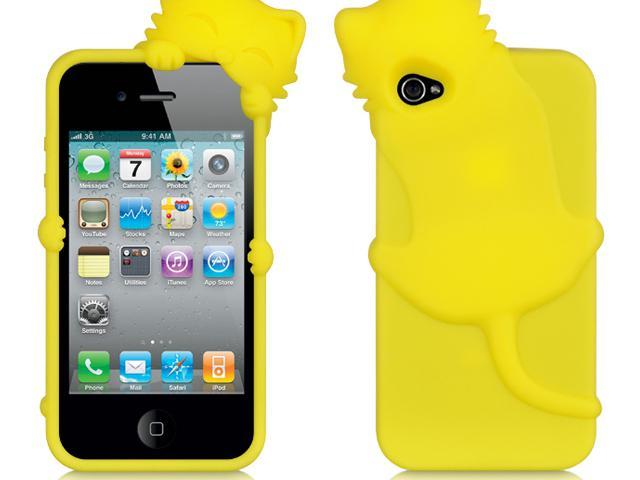 Apple iPhone 4S/iPhone 4 Yellow Cat Design High-End Skin Case