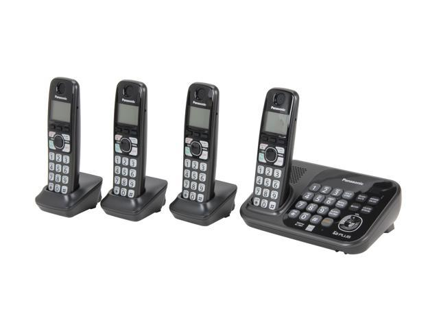 Panasonic KX-TG4744B 1.9 GHz Digital DECT 6.0 4X Handsets Cordless Phones Integrated Answering Machine