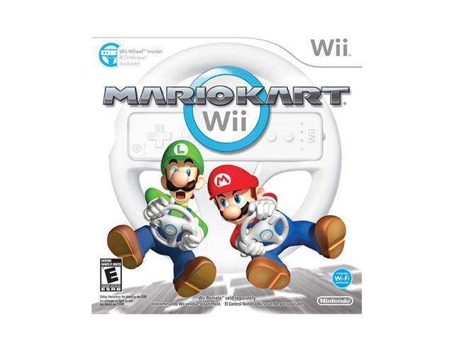 Mario Kart Wii w/Wheel Wii Game