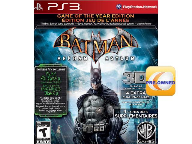 PRE-OWNED Batman: Arkham Asylum Game of the Year PS3