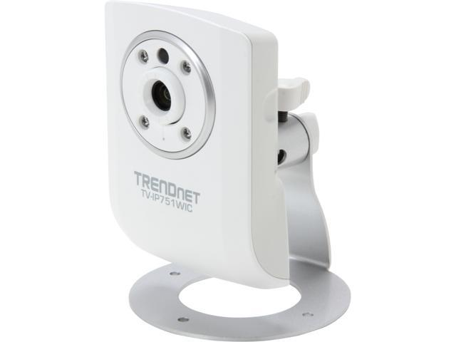 TRENDnet TV-IP751WIC 640 x 480 MAX Resolution RJ45 Wireless Day / Night Cloud Camera