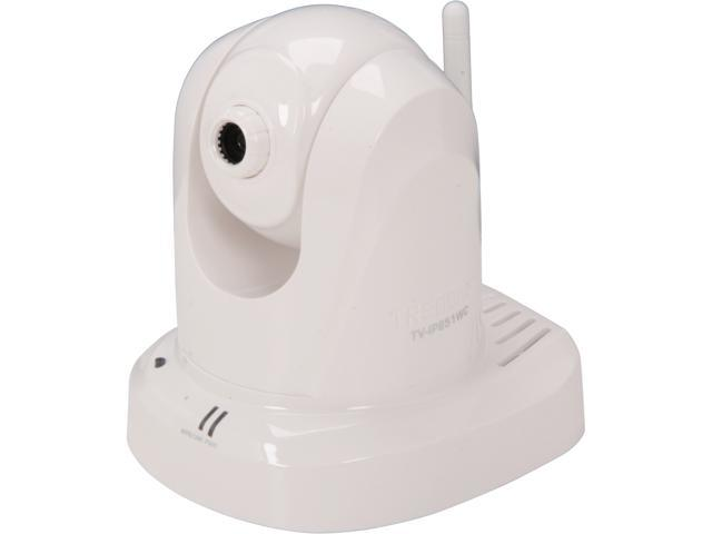 TRENDnet TV-IP851WC 640 x 480 MAX Resolution RJ45 Wireless PTZ Cloud Camera