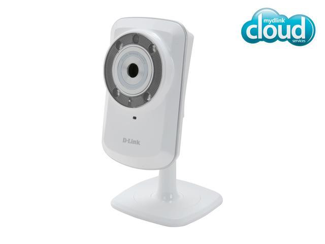 D-Link DCS-932L Cloud Wireless IP Camera, 640x480 Resolution, Night Vision, mydlink enabled
