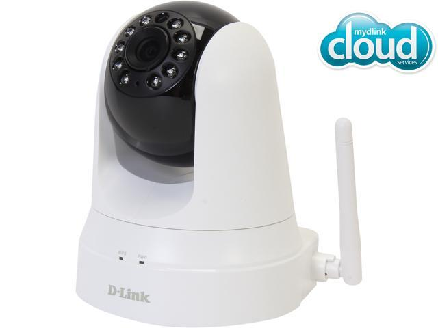 D-Link DCS-5020L Cloud Wireless IP Camera, 640X480 Resolution, Pan/Tilt, Night Vision, Wi-Fi Extender, Sound and Motion Detection, mydlink enabled