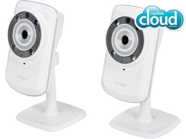 D-Link DCS-932L/2Q Cloud Wireless IP Camera, 640x480 Resolution, Night Vision, Mydlink Enabled (2 PACK)
