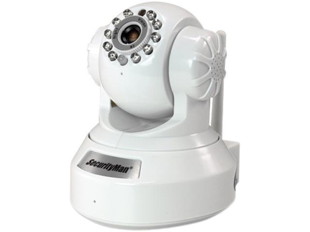 SecurityMan IPCAM-SD 640 x 480 MAX Resolution RJ45 DIY wireless/wired IP camera with H.264, SD recorder, night vision, PTZ, & 2-way audio