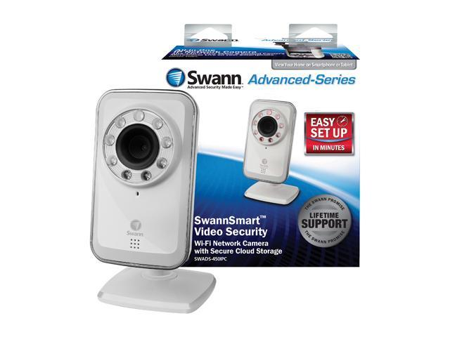 Swann SWADS-450IPC-US 640 x 480 MAX Resolution RJ45 SwannSmart Wi-Fi Network Camera with Secure Cloud Storage