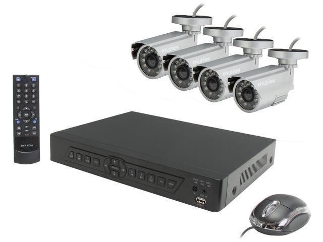 LaView LV-KDV0404B6S Complete 4 Channel Security DVR System Easy DIY Four 600TVL Infrared Surveillance Cameras (No HDD)