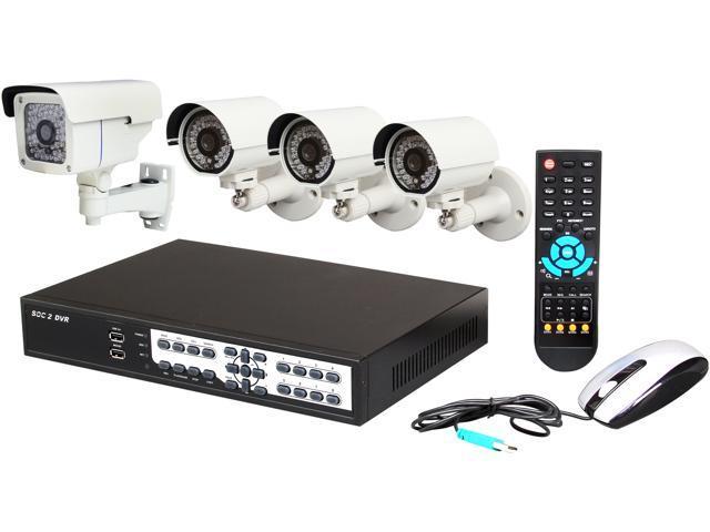 Aposonic A-BR18B4-E 8 Ch 960H DVR + 4x Sony Super HAD II CCD 700 TVL Bullet Cameras with Mobile Access Surveillance Kit, Mac OS X ...