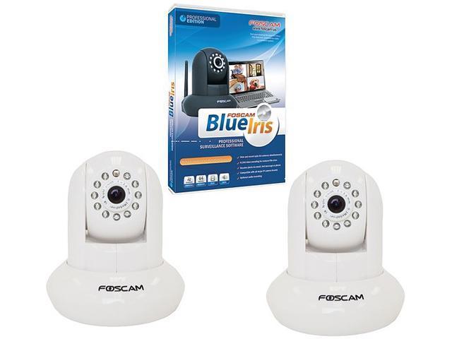 Foscam FSCBLUIRS KIT 640 x 480 MAX Resolution Fi8910W Camera with Blue Iris Software, 2pk