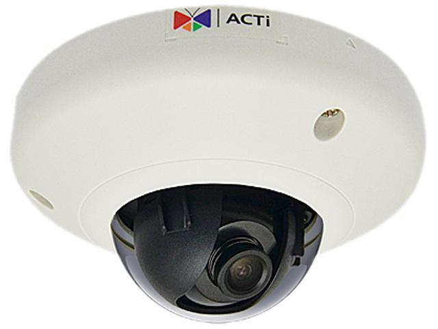 ACTi D91 RJ45 1MP Indoor Mini Dome Camera with Fixed Lens