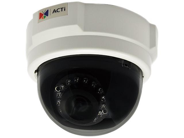 ACTi D54 RJ45 1MP Indoor Dome Camera with D/N, IR, Fixed Lens