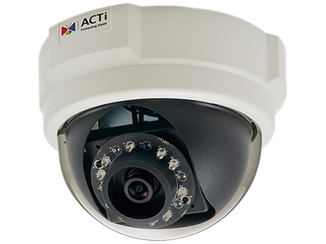 ACTi E57 RJ45 1.3MP Indoor Dome Camera with D/N, IR,Basic WDR, SLLS, Fixed Lens
