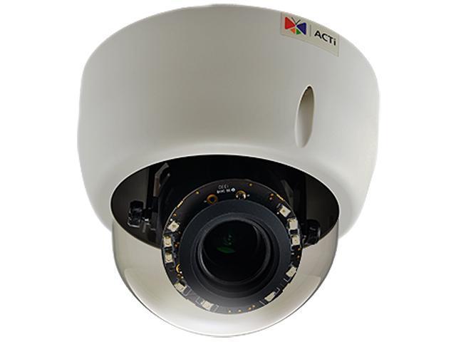 ACTi E610 RJ45 10MP Indoor Dome Camera with D/N,Adaptive IR, Basic WDR, Vari-focal Lens