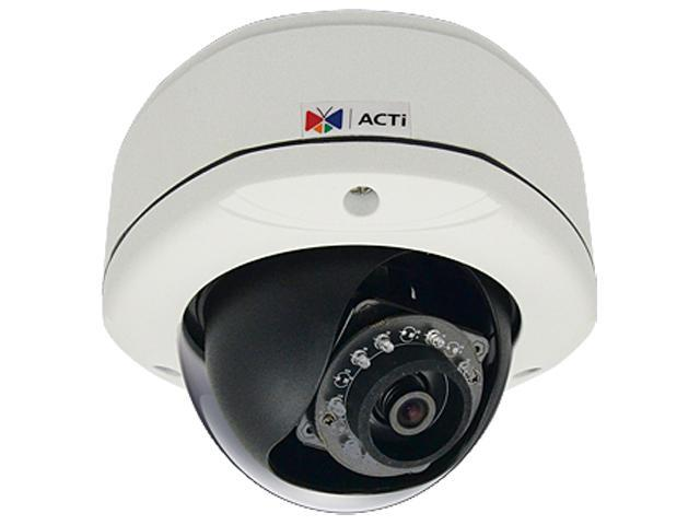 ACTi E75 RJ45 1.3MP Outdoor Dome Camera with D/N, IR,Basic WDR, SLLS, Fixed Lens