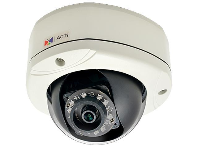 ACTi E76 RJ45 2MP Outdoor Dome Camera with D/N, IR,Basic WDR, SLLS, Fixed Lens