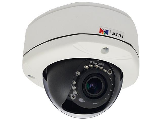 ACTi D81 RJ45 1MP Outdoor Dome Camera with D/N, IR, Vari-focal Lens