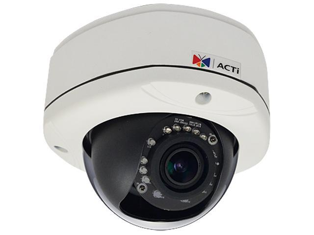 ACTi E81A RJ45 1MP Day/Night IR Outdoor Vandal Fixed Dome Network Camera
