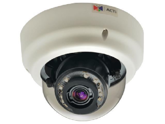 ACTi B61 RJ45 5MP Indoor Zoom Dome Camera with D/N,Adaptive IR, Basic WDR, 3x Zoom Lens