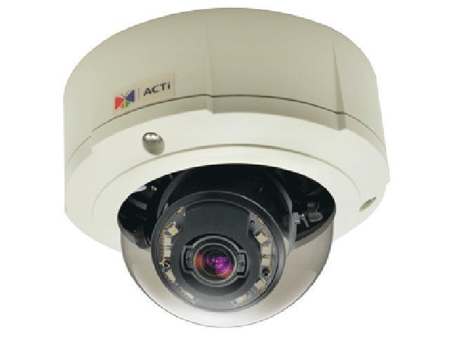 ACTi B87 RJ45 3MP Outdoor Zoom Dome Camera with D/N, Adaptive IR, Superior WDR, 3x Zoom Lens