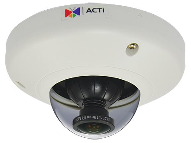 ACTi E96 5MP Indoor Mini Fisheye Dome Camera with Basic WDR, Fixed Lens