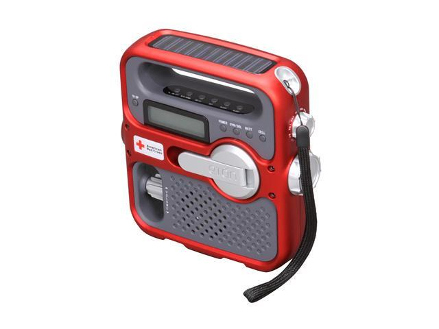 eton American Red Cross SOLARLINK Portable Radio ARC FR360 - Red