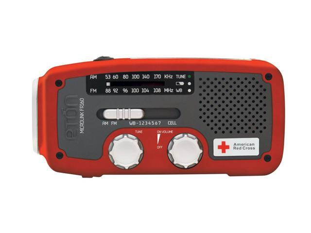 eton Self-Powered AM/FM/NOAA Weather Radio with Flashlight, Solar Power, and Cell Phone Charger ARCFR160WXR