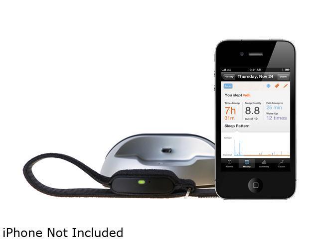 Lark Technologies 10007 Lark Pro Silent Alarm Clock, Sleep Sensor & Coach Black