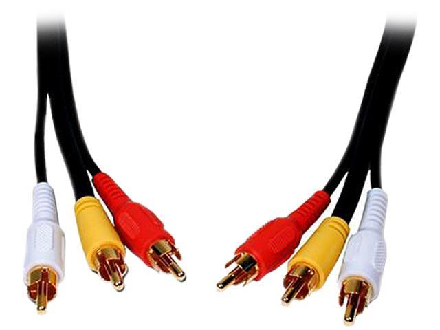 Comprehensive Model 3RCA-3RCA-10ST 10ft Standard Series General Purpose 3 RCA Video Cable