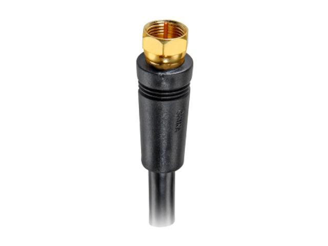RCA VHB6111N 100 ft. RG-6 Digital Coaxial Cable With Gold Plated F Connectors (Black)