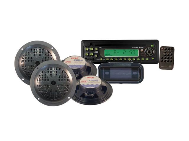 Pyle PLCD14MRKT Marine CD Receiver w/Speaker & Splash Proof Radio Cover