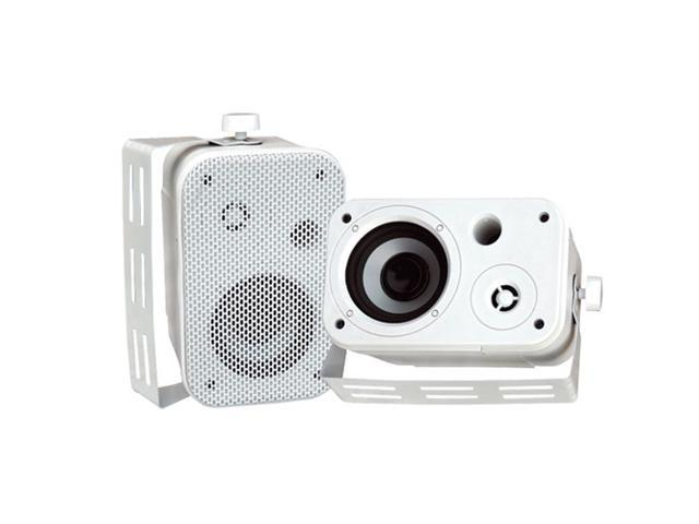 PYLE PDWR30W 3.5'' Indoor/Outdoor Waterproof On-Wall Speakers (White) Pair