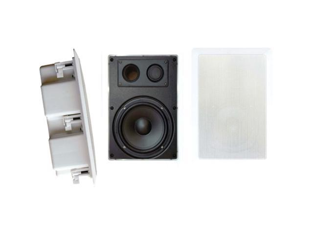 PYLE PDIW87 8'' Two Way In Wall Enclosed Speaker System w/ Directional Tweeter One Pair