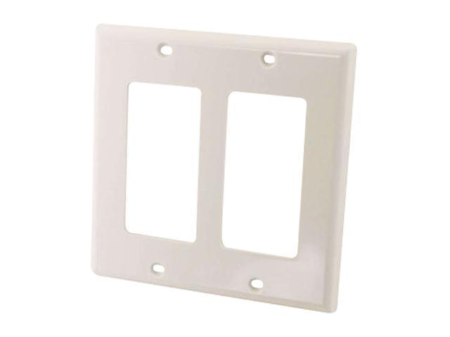 C2G 03728 Decorative Dual Gang Wall Plate White